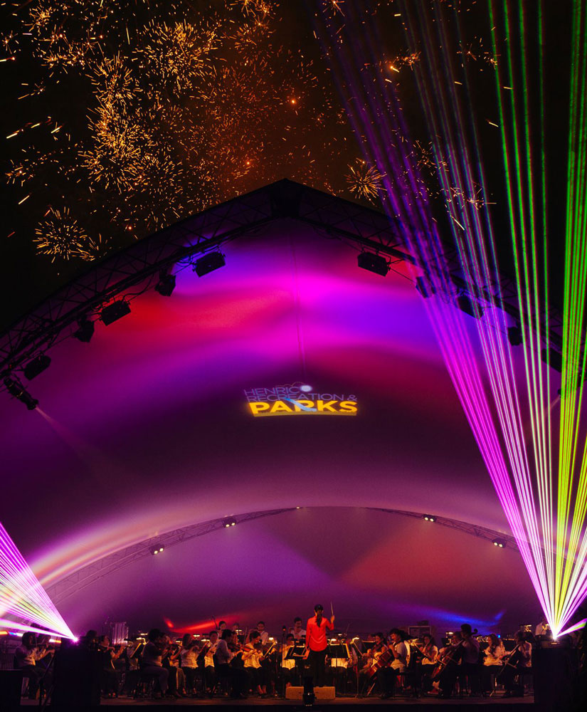 Henricos Red White And Lights To Feature Richmond Symphony Fireworks Laser Light Show